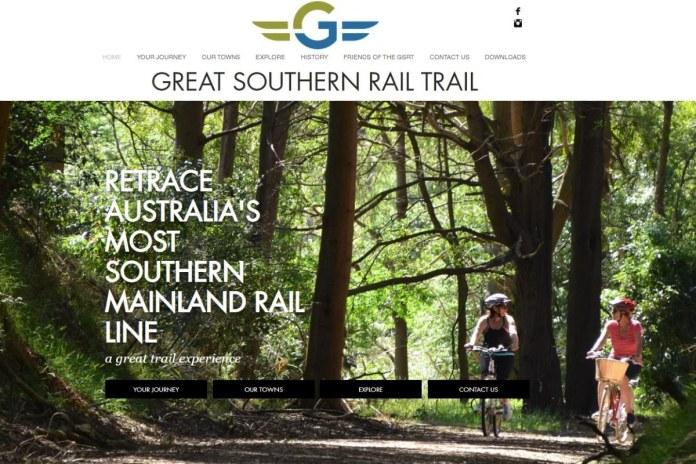 Great Southern Rail Trail website screenshot