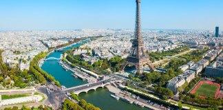 Paris skyline with Eiffel Tower