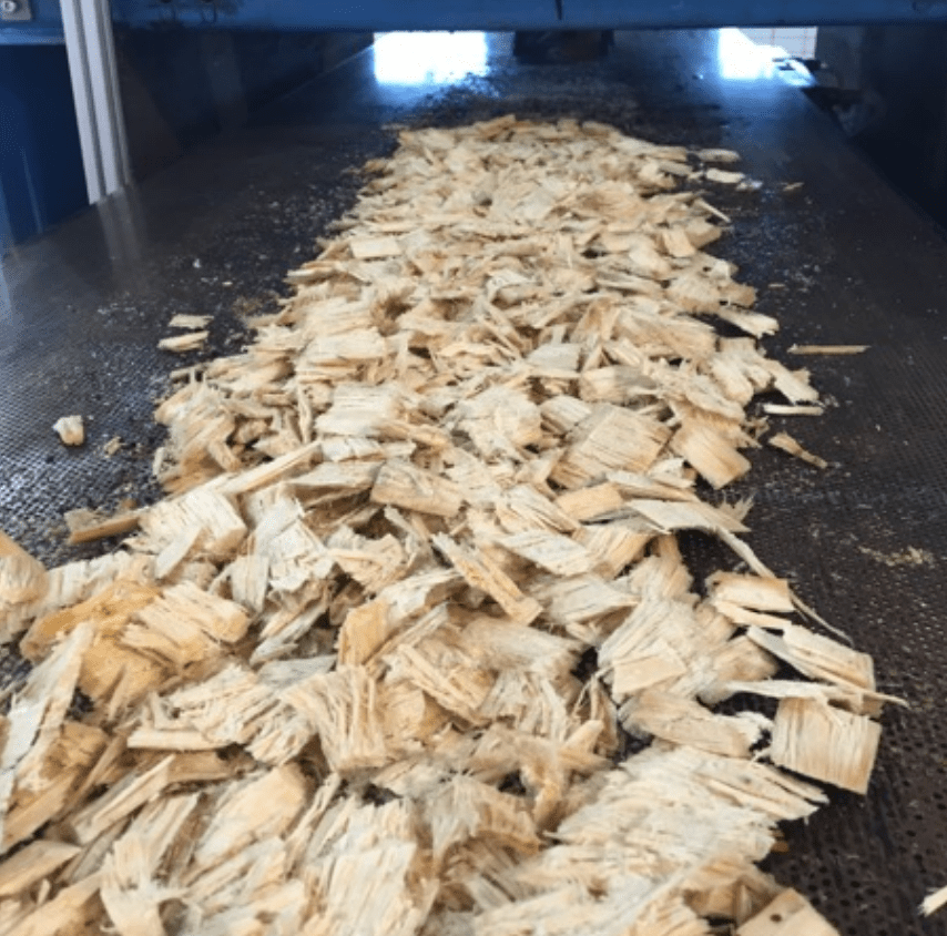 wood chips processed by drinor