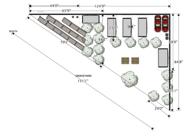 First lot layout for tiny house pop-up