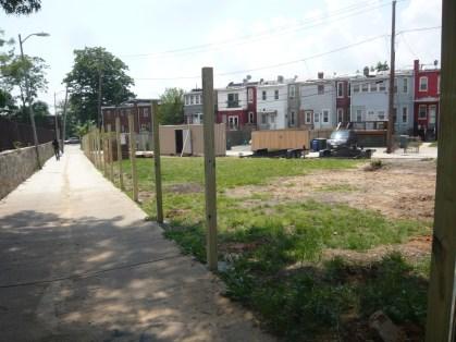 44 fence posts hand dug...