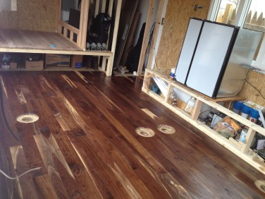 Walnut floors installed