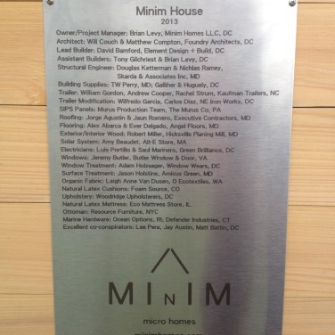 Thanks to all the invaluable contributors to the Minim House project!