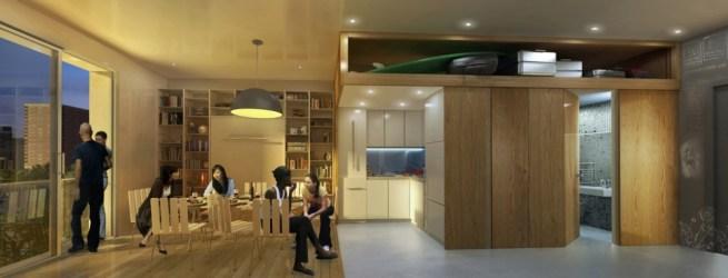 NYC Adapt micro-unit interior