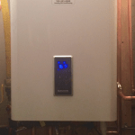 Navien combi water heater installed