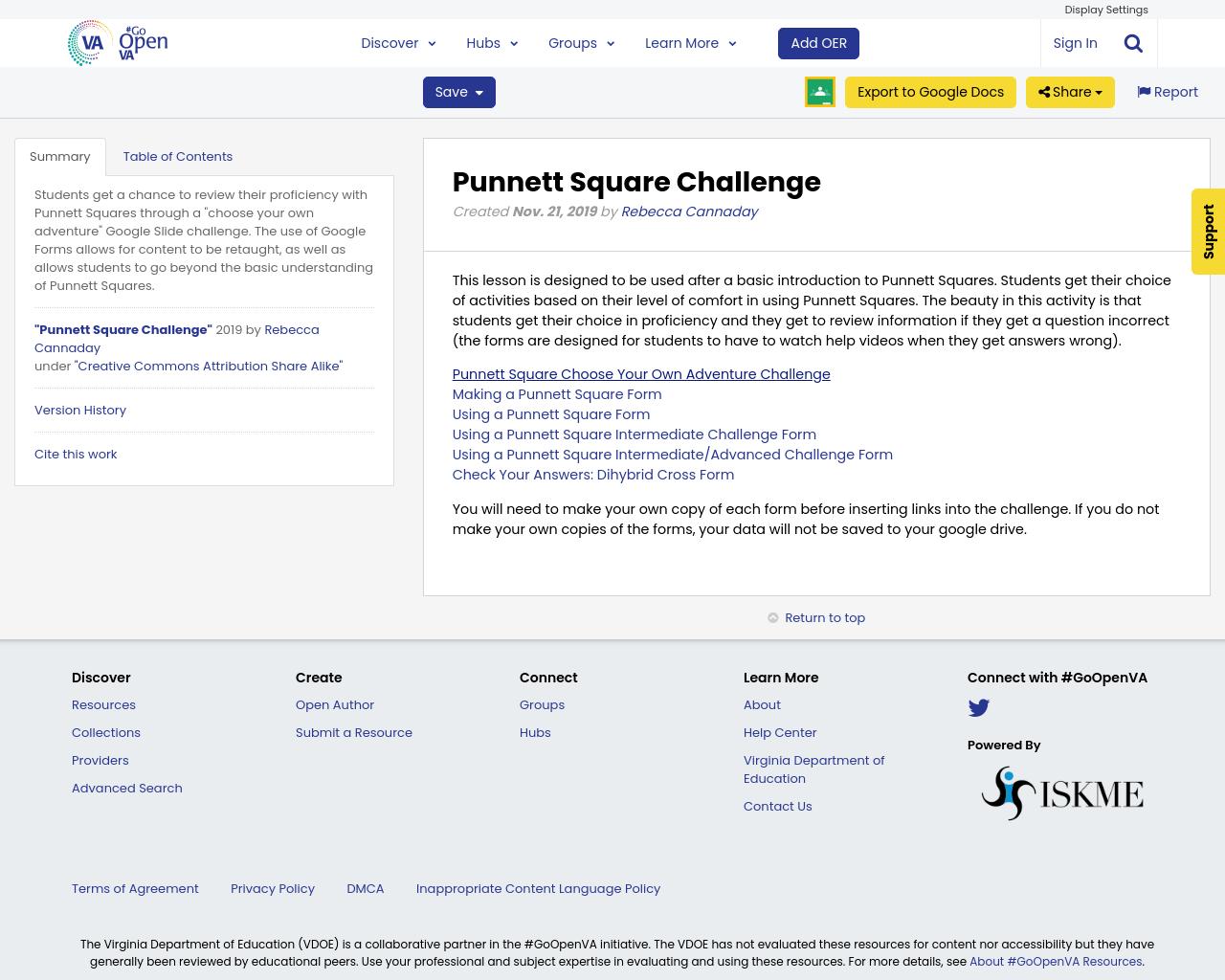 Punnett Square Challenge