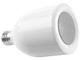 auvisio Lautsprecher LED Lampe E27, 6/8 Watt mit Bluetooth ...