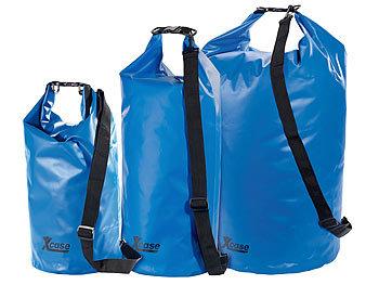 Xcase Wasserdichter Beutel Urlauber Set Wasserdichte Packsacke 16 25 70 Liter Blau Wasserfeste Packsacke