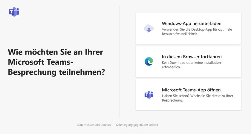 Auswahl im Browser