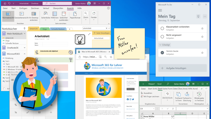 Windows 10 mit vollem Desktop - Teaser