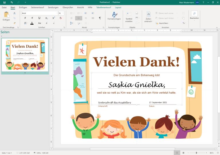 Microsoft Publisher – Druckerzeugnisse erstellen