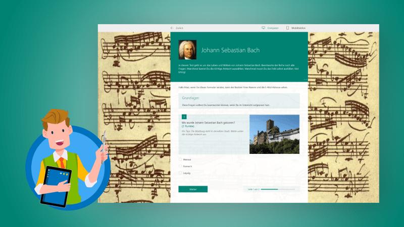 Microsoft Forms: Quiz für Schüler erstellen