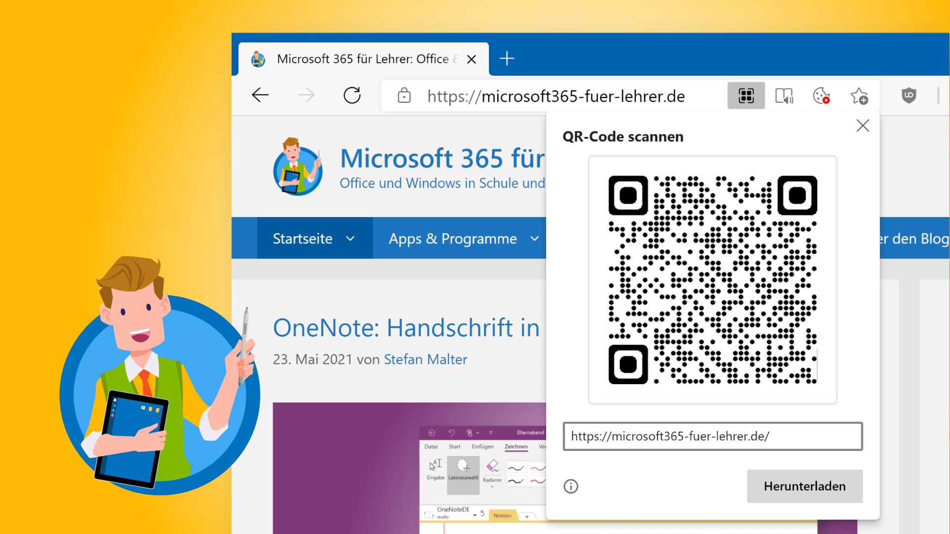 QR-Code erstellen mit Microsoft Edge