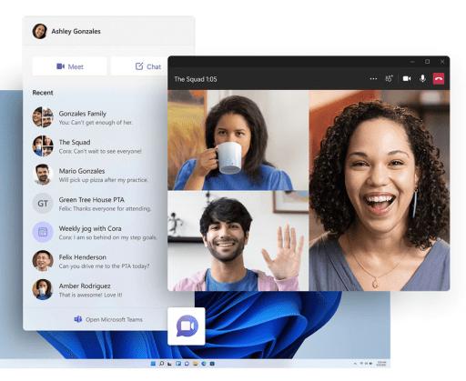 Microsoft Teams - integriert in Windows 11
