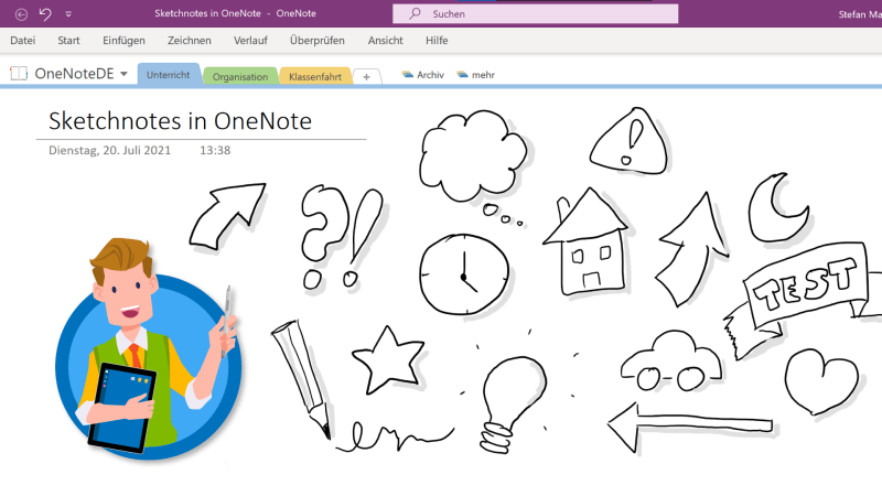 Sketchnotes erstellen mit OneNote