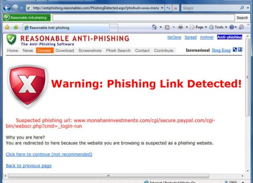 Protect yourself from Email and Web Scams