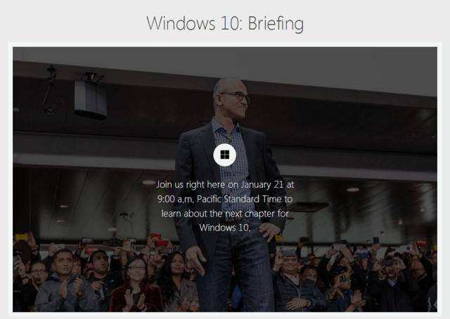 windows 10 media briefing
