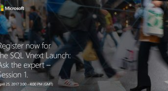Join Microsoft Middle East and Africa for an SQL vNext Launch and Ask the Expert Session