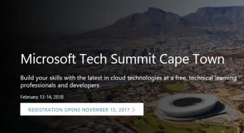 Microsoft Tech Summit 2018 Africa event to take place in Cape Town, South Africa