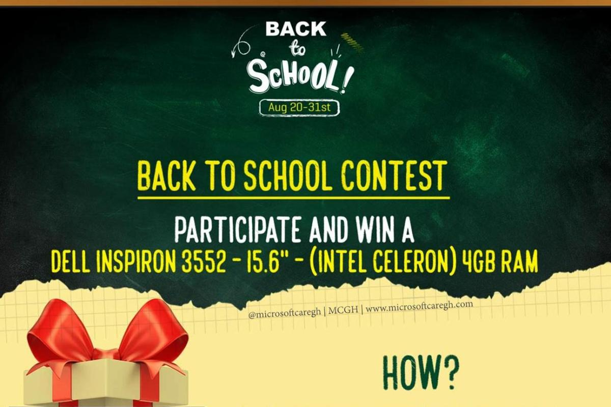 Win a Dell Laptop in the Jumia Back to School Contest