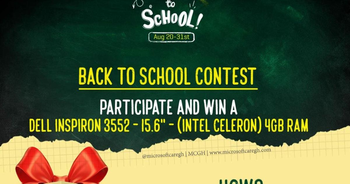 Win A Dell Laptop In The Jumia Back To School Contest Mcgh
