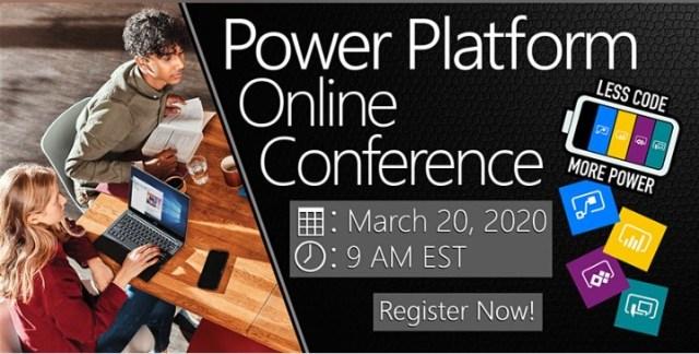 power platform online conference 2020