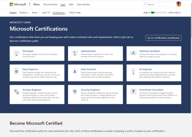 Microsoft certifications exam