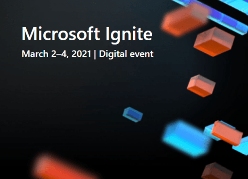 Microsoft Ignite 2021 digital event registration