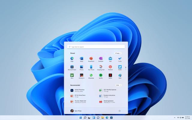 Windows 11 OS Start Menu