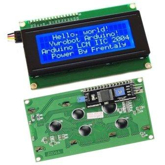 IIC / I2C / TWI 164 1604 16x4 LCD screen module character series yellow  green blue with backlight for Arduino | Pakistan - Microsolution