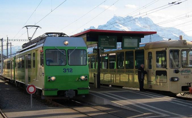 green snow train switzerland