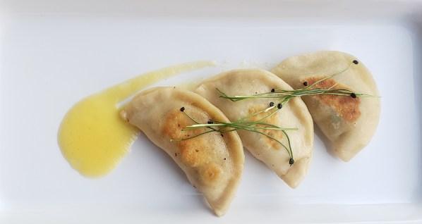 Caramelized Onion, Mushroom, and Potato Pierogi