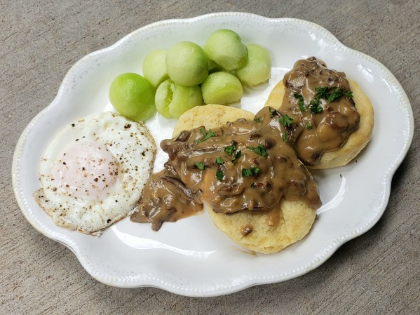 Biscuits and Mushroom Country Gravy