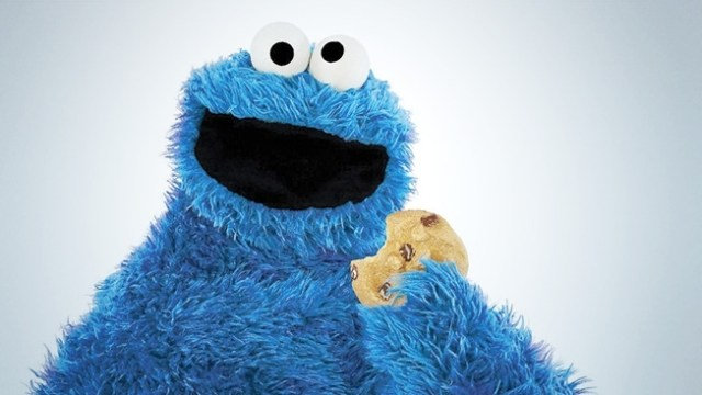 microwave cookie, cookie monster
