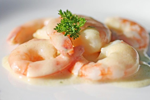 Microwave Garlic Cream Prawns