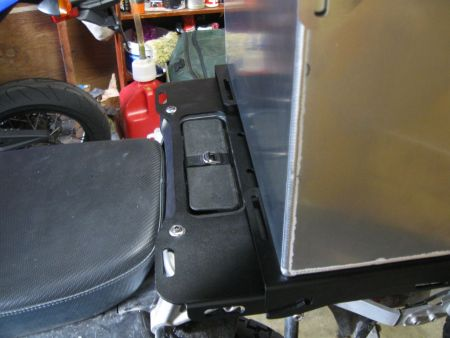 This is where I would like to mount my rear top box
