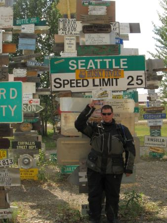 Seattle! At the Sign Post Forest in Watson Lake
