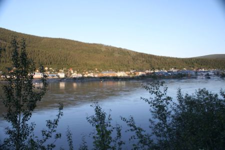 Dawson City from the Hostel located across the Yukon River