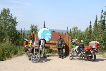 Geoff, Myself, Sara and the F8 at the Arctic Circle