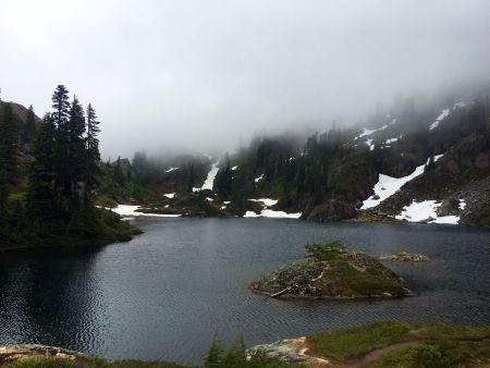 One of the Rampart Lakes