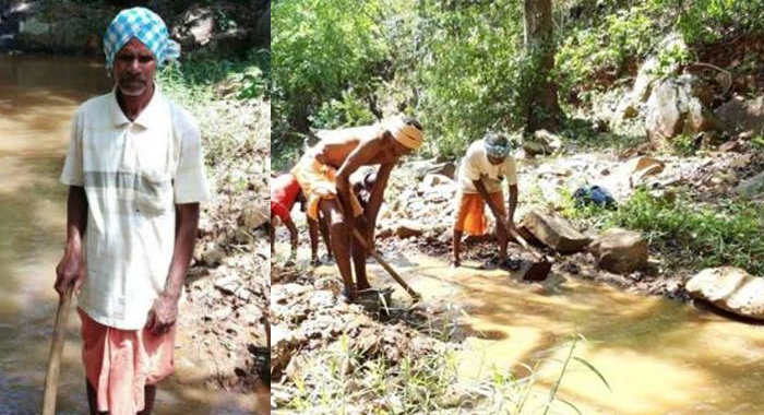 75-YO Man Carves Out 3 Km Water Canal Through Mountain in 3 Years!