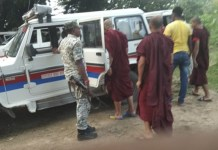 The police arrested the Buddhist monk