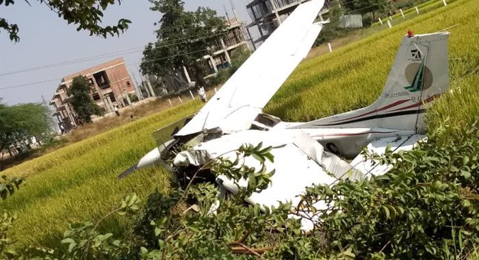 Telugu News Trainee flight crashed in rangareddy district pilot safe