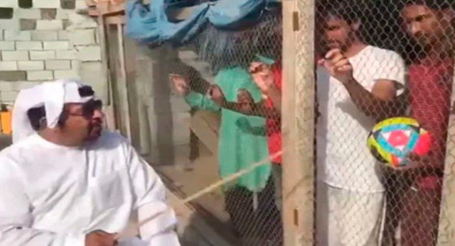 "Telugu news UAE Man Arrested For Locking Up Indian Football Fans In ""Bird Cage"": Report. Watch Video"