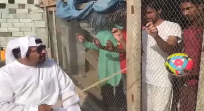 """Telugu news UAE Man Arrested For Locking Up Indian Football Fans In """"Bird Cage"""": Report. Watch Video"""