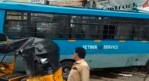 Telugu news Setwin bus was hit in Secunderabad