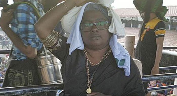 Telugu news 36-Year-Old Dyes Her Hair Grey, Claims To Have Entered Sabarimala Temple