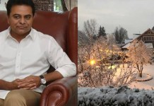 Telugu News 'Treat Mine as Yours Omar Abdullah to KTR Bowled Over by NC Leaders Snow clad House.