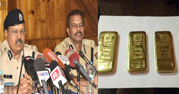 Telugu News Assam Two cops flee with 60 seized gold biscuits worth Rs 3 crore.