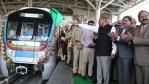 Governor esl narasimhan inaugurated ameerpet hitech city metro service